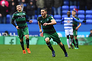 Conor Washington (9) of Queens Park Rangers during the EFL Sky Bet Championship match between Reading and Queens Park Rangers at the Madejski Stadium, Reading, England on 30 March 2018. Picture by Graham Hunt.