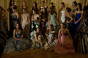 THE DEBUTANTES; SCOUT WILLIS IN CENTRE; The 2008 Crillon Debutante Ball. Getting Ready the Day before. Crillon Hotel. Paris. 29 November 2008. *** Local Caption *** -DO NOT ARCHIVE-© Copyright Photograph by Dafydd Jones. 248 Clapham Rd. London SW9 0PZ. Tel 0207 820 0771. www.dafjones.com.