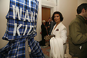 Bianca Jagger, USA Today. Saatchi Gallery and The Royal academy of Arts. Piccadilly. London. 5 October 2006. -DO NOT ARCHIVE-© Copyright Photograph by Dafydd Jones 66 Stockwell Park Rd. London SW9 0DA Tel 020 7733 0108 www.dafjones.com