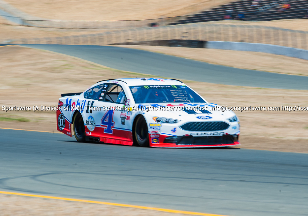 SONOMA, CA - JUNE 24: Monster Energy NASCAR Cup Series driver Kevin Harvick (4) finishes 12th during qualifying at the NASCAR Monster Energy Cup Series- Toyota/Save Mart 350 at Sonoma Raceway  in Sonoma,CA on June 24rd, 2017 (Photo by Samuel Stringer/Icon Sportswire)
