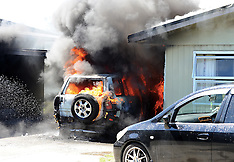 Napier-Flames engulfs car in garage fire, Tamatea