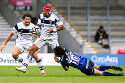 Siale Piutau of Bristol Bears is tackled by AJ MacGinty of Sale Sharks - Mandatory by-line: Robbie Stephenson/JMP - 29/08/2020 - RUGBY - AJ Bell Stadium - Manchester, England - Sale Sharks v Bristol Bears - Gallagher Premiership Rugby