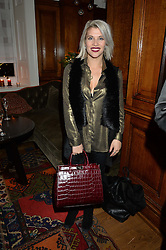 LONDON, ENGLAND 1 DECEMBER 2016: Pips Taylor Left to right, at the Smythson & Brown's Hotel Christmas Party held at Brown's Hotel, Albemarle St, Mayfair, London, England. 1 December 2016.