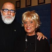 Premiere musical Doornroosje, vader Abraham, Pierre Kartner en vrouw Annie