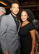 "ATLANTA, GA - MAY 14:  ""Grey's Anatomy"" star Jesse Williams and a guest attend the MLB Beacon Awards Banquet at the Omni Hotel on May 14, 2011 in Atlanta, Georgia.  (Photo by Mike Zarrilli/Getty Images)"