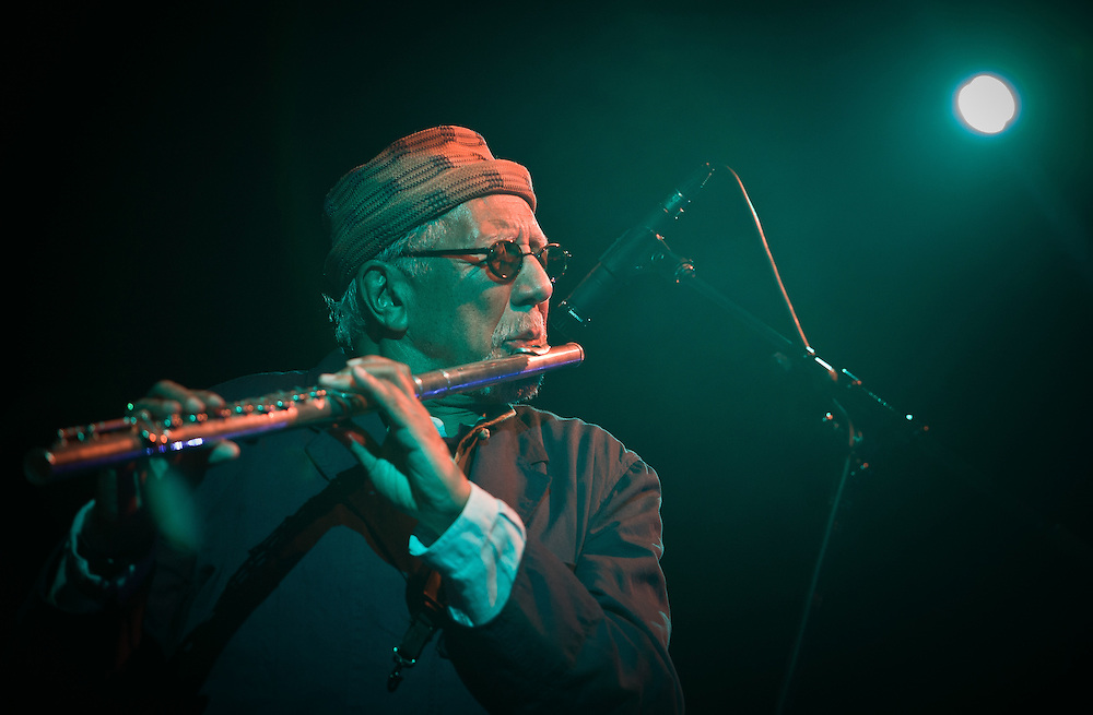 Charles Lloyd performs at the Highline Ballroom in New York City on July 3, 2009.