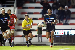 Jonathan Joseph of Bath Rugby scores a try in the second half - Mandatory byline: Patrick Khachfe/JMP - 07966 386802 - 09/12/2017 - RUGBY UNION - Stade Mayol - Toulon, France - Toulon v Bath Rugby - European Rugby Champions Cup