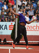 Fedrick Dacres (JAM) wins the discus at 223-0 (67.97m) during the IAAF Continental Cup 2018 at Mestkey Stadion in Ostrava, Czech Republic, Saturday, Sept. 8, 2018. (Jiro Mochizuki/Image of Sport)