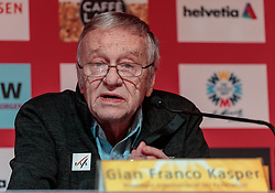 05.02.2017, St. Moritz, SUI, FIS Weltmeisterschaften Ski Alpin, St. Moritz 2017, Eröffnungs Pressekonferenz LOC, im Bild Gian Franco Kasper (FIS Präsident) // Gian Franco Kasper president of the International Ski Federation during a press conference of LOC prior to the FIS Ski World Championships 2017. St. Moritz, Switzerland on 2017/02/05. EXPA Pictures © 2017, PhotoCredit: EXPA/ Johann Groder
