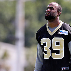 May 28, 2015; New Orleans, LA, USA; New Orleans Saints cornerback Brandon Browner (39) during organized team activities at the New Orleans Saints Training Facility. Mandatory Credit: Derick E. Hingle-USA TODAY Sports