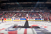 REGINA, SK - MAY 27: Centre Ice at the Brandt Centre on May 27, 2018 in Regina, Canada. (Photo by Marissa Baecker/CHL Images)