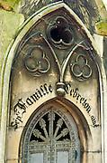 Mausoleum detail at Père Lachaise Cemetery, Paris, France