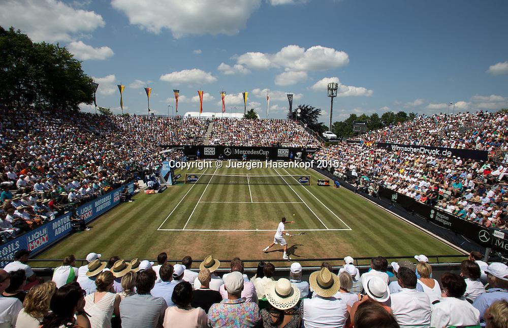 Mercedes Cup, Herren Finale,Endspiel auf dem Centre Court, von oben,Troicki vorne und Nadal hinten,<br /> <br /> Tennis - Mercedes Cup - ATP -  Tennisclub Weissenhof  - Stuttgart - Baden-Wuerttemberg - Germany  - 14 June 2015. <br /> &copy; Juergen Hasenkopf