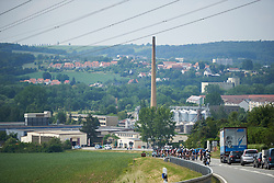 The peloton approach from Gera at Lotto Thuringen Ladies Tour 2018 - Stage 4, a 118 km road race starting and finishing in Gera, Germany on May 31, 2018. Photo by Sean Robinson/Velofocus.com