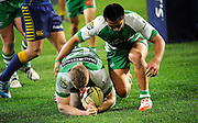 Hamish Northcott after scoreng his try for Manawatu in the ITM Cup Rugby Match. Otago v Manawatu at Forsyth Barr Stadium, Dunedin, New Zealand. Friday 10 October 2014. New Zealand. Photo: Richard Hood/photosport.co.nz