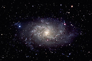Tringaulum Galaxy, Messier 33 (M33), the great galaxy in the constellation of Triangulum. It lies approximately 3 million light years away from us.