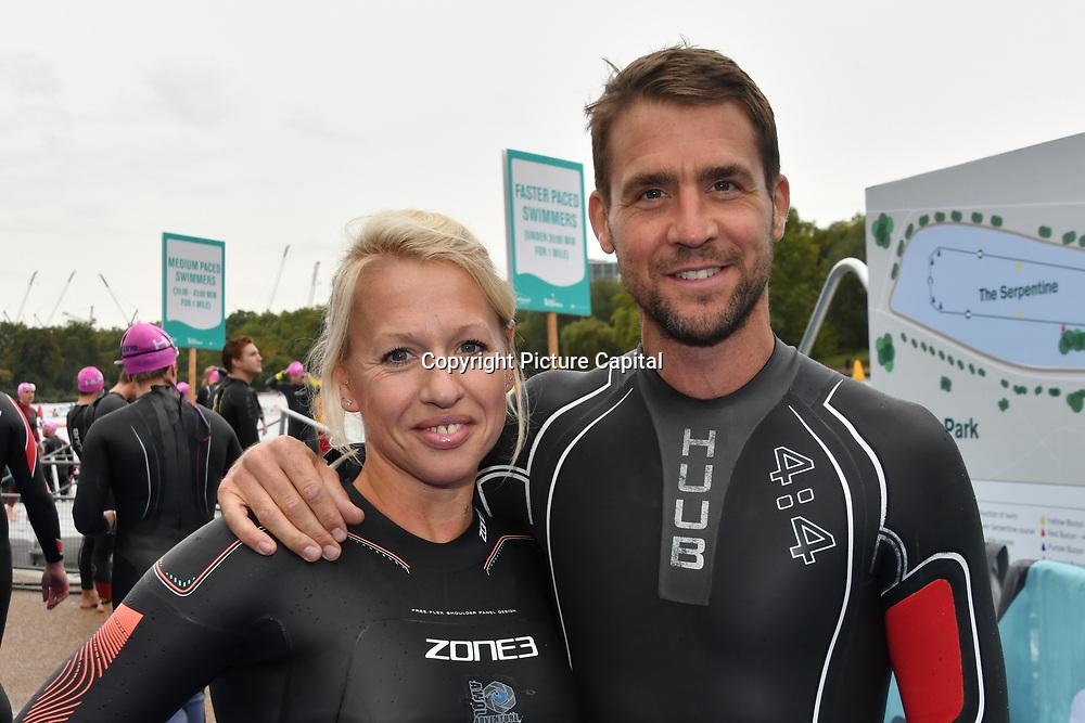 Gail Emms, Leon Taylor Swim Serpentine 2018, London, UK. 22 September 2018.