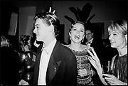Leonardo DiCaprio, Sharon Stone & Ellen Barkin  at  Steve Tisch &  Vanity Fair's Oscar Night Party,<br /> Mortons,  1994