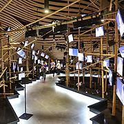 Interno Padiglione del gruppo immobiliare cinese Vanke. Disegnato da Daniel Libeskind, è stato realizzato al 100% dalla italiana Bodino Engineering di Torino