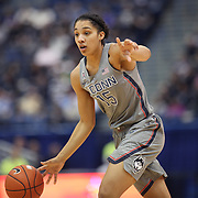 HARTFORD, CONNECTICUT- JANUARY 4:  Gabby Williams #15 of the Connecticut Huskies in action during the UConn Huskies Vs East Carolina Pirates, NCAA Women's Basketball game on January 4th, 2017 at the XL Center, Hartford, Connecticut. (Photo by Tim Clayton/Corbis via Getty Images)