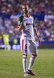 September 30, 2018 - Valencia, U.S. - VALENCIA, SPAIN - SEPTEMBER 30: Laguardia, defender of Deportivo Alaves looks during the La Liga match between Levante UD and Deportivo Alaves at Estadio Ciutat de Valencia on September 30, 2018, in Valencia, Spain. (Photo by Carlos Sanchez Martinez/Icon Sportswire) (Credit Image: © Carlos Sanchez Martinez/Icon SMI via ZUMA Press)