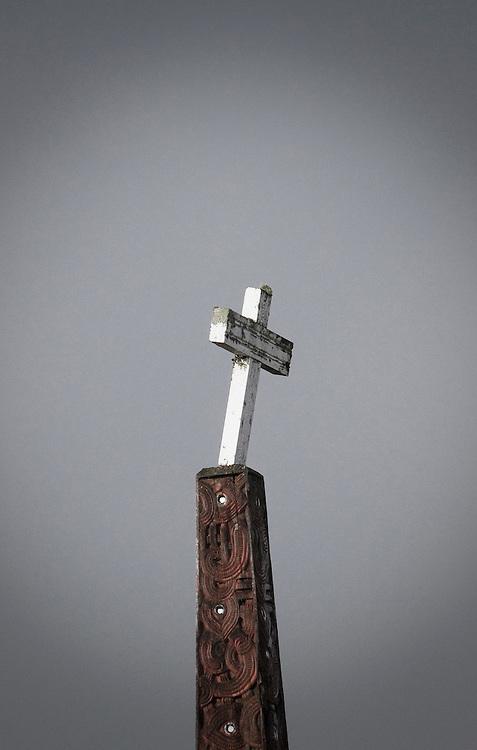 Cross at a marae, New Zealand, Monday, June 11, 2011.  Credit: SNPA / Bethelle McFedries