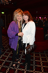 Left to right, LYNDA LA PLANTE and ELIZABETH EMANUEL at a party to celebrate the publication of 'Passion for Life' by Joan Collins held at No41 The Westbury Hotel, Mayfair, London on21st October 2013.