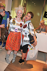 Left to right, LOUISE GRAY and JAIME WINSTONE at a party to celebrate the launch of Louise Gray's make-up and clothing collections for Topshop held at Topshop Edited, 286 Regent Street, London on 22nd August 2012.