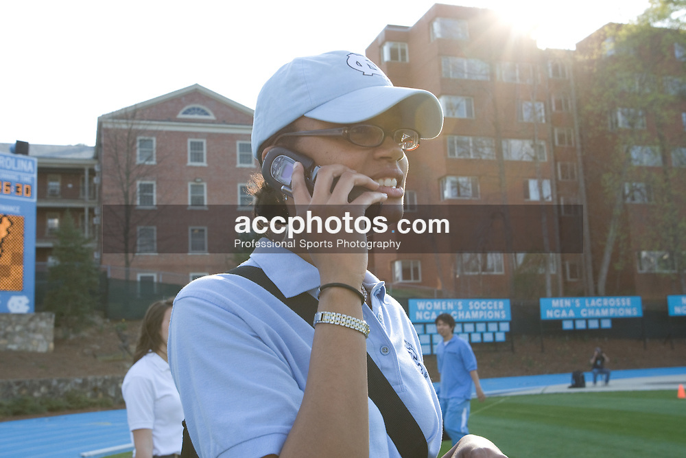 22 March 2008: North Carolina Tar Heels athletic trainer Nina Walker before playing the Maryland Terrapins at Fetzer Field in Chapel Hill, NC.