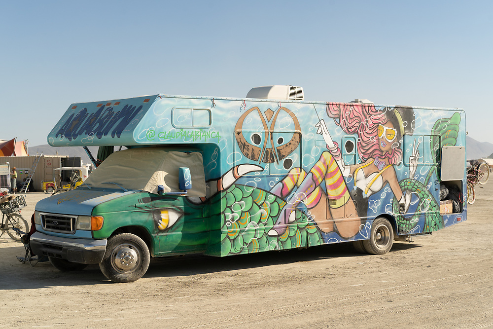 Amazing paint job on an RV by Claudia La Bianca.