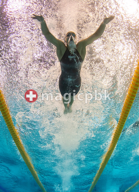 Sarah Blake BATEMAN of Iceland competes in the women's 100m Butterfly Heats during the 31st LEN European Swimming Championships in Debrecen, Hungary, Thursday, May 24, 2012. (Photo by Patrick B. Kraemer / MAGICPBK)