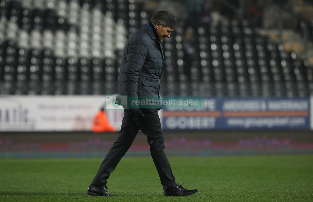 December 1, 2017 - Charleroi, BELGIUM - Charleroi's head coach Felice Mazzu looks dejected after the Jupiler Pro League match between Sporting Charleroi and KV Oostende, in Charleroi, Friday 01 December 2017, on the day 17 of the Jupiler Pro League, the Belgian soccer championship season 2017-2018. BELGA PHOTO VIRGINIE LEFOUR (Credit Image: © Virginie Lefour/Belga via ZUMA Press)