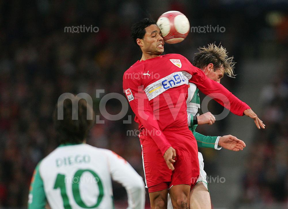 Fussball Bundesliga VFB Stuttgart - SV Werder Bremen Antonio DA SILVA (VFB, l) gegen Tim BOROWSKI (Werder).