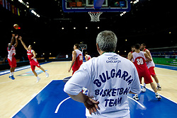 Coach Ivan Cholakov at practice session of Bularian National basketball team 1 day before Eurobasket Lithuania 2011, on August 29, 2011, in Arena Svyturio, Klaipeda, Lithuania. (Photo by Vid Ponikvar / Sportida)