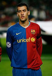 4/11/2008 CHAMPIONS LEAGUEF,MATCH DAY 4,GROUP C FC BARCELONA-FC BASEL 1893 AT CAMP NOU STADIUM,BARCELONA,SPAIN.SERGIO BUSQUETS..PHOTO: ENRIC FONTCUBERTA