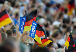 German Spectators attend the 12th IAAF World Athletics Championships at the Olympic Stadium on August 20, 2009 in Berlin, Germany. (Photo by Vid Ponikvar / Sportida)