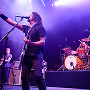 "WASHINGTON, DC - May 5th, 2014 - The Foo Fighters perform at the 9:30 Club in Washington D.C. as part of the birthday celebration for Big Tony of Trouble Funk.  The band performed as surprise guests and played a set full of hits such as ""My Hero"" and ""These Days."" (Photo by Kyle Gustafson / For The Washington Post)"