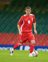 CARDIFF, WALES - Friday, September 5, 2008: Wales' Carl Robinson in action against Azerbaijan during the opening 2010 FIFA World Cup South Africa Qualifying Group 4 match at the Millennium Stadium. (Photo by David Rawcliffe/Propaganda)