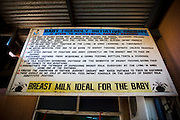 Sign identifying a baby-friendly health facility at the La Polyclinic in Accra, Ghana on Tuesday June 16, 2009.