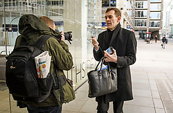© Licensed to London News Pictures. 06/01/2020. London, UK. Labour Party's Executive Director of Strategy SEUMAS MILNE arrives for a Labour Party NEC meeting in London where the upcoming leadership election will be organised. Current leader Jeremy Corbyn pledged to step down after the Conservative party won an 80 seat majority at a general election. Photo credit: Ben Cawthra/LNP