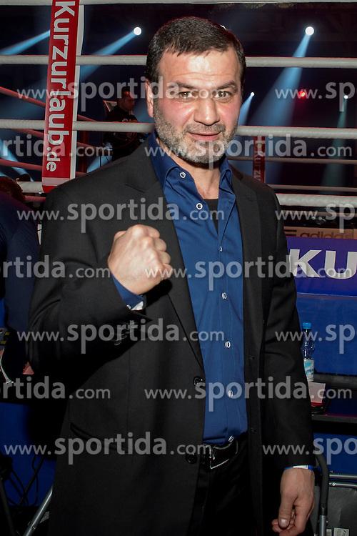 12.03.2016, Jahnsportforum, Neubrandenburg, GER, Boxgala, WBA Weltmeisterschaftskampf, im Bild v.l. Artur Gregorian // during the WBA Light Heavyweight World Championship Boxgala at the Jahnsportforum in Neubrandenburg, Germany on 2016/03/12. EXPA Pictures &copy; 2016, PhotoCredit: EXPA/ Eibner-Pressefoto/ Koch<br /> <br /> *****ATTENTION - OUT of GER*****