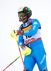 17.02.2019, Aare, SWE, FIS Weltmeisterschaften Ski Alpin, Slalom, Herren, 2. Lauf, im Bild Stefano Gross (ITA) // Stefano Gross of Italy reacts after his 2nd run of men's Slalom of FIS Ski World Championships 2019. Aare, Sweden on 2019/02/17. EXPA Pictures © 2019, PhotoCredit: EXPA/ Johann Groder