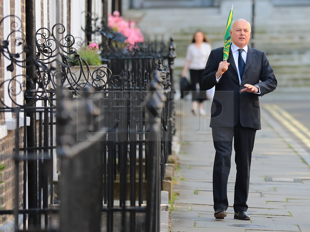 © Licensed to London News Pictures. 20/06/2019. London, UK. Ian Duncan Smith in Westminster. The final two candidates will be put to the party membership in a ballot. Photo credit: Rob Pinney/LNP