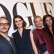 NLD/Amsterdam/20130110 - 20 Years of Viktor & Rolf - Vogue, Viktor & Rolf, model Marte Mei van Haaster met Karen Swerink
