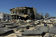 The destruction to Historic Old Town Bay St. Louis  after it was destroyed by Hurricane Katrina Sunday Sept, 11, 2005.Photo©Suzi Altman