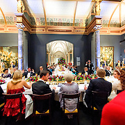 Queen Beatrix is having dinner with members of the royal family and guests at the Rijksmuseum in Amsterdam, The Netherlands, on Monday night, April 29, 2013. HANDOUT/ROBIN UTRECHT