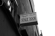 Stage door of Olympia Theatre