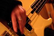 Belo Horizonte_MG, Brasil...Musico, da banda Paplo Castro e a Banda os Descontentes, tocando contrabaixo...A musician, of the band Pablo Castro e Banda dos Descontentes, playing bass...Foto: LEO DRUMOND / NITRO