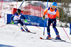 FITZPATRICK Menna, Guide: KEHOE Jennifer, B2, GBR, Slalom at the WPAS_2019 Alpine Skiing World Cup Finals, Morzine, France