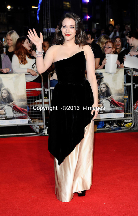 Kat Dennings arriving for the premiere of Thor: The Dark World, in London, Tuesday, 22nd October 2013. Picture by i-Images